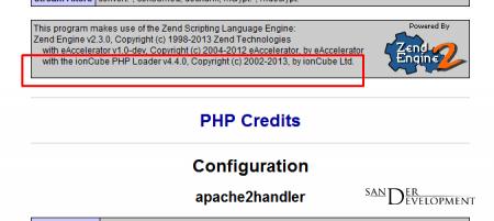 Как проверить наличие ionCube Loader на сервере